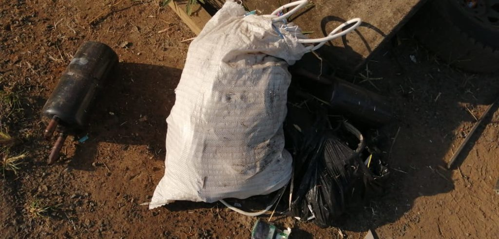 Copper Material Recovered